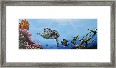 Ocean Life Framed Print by Donna Tuten