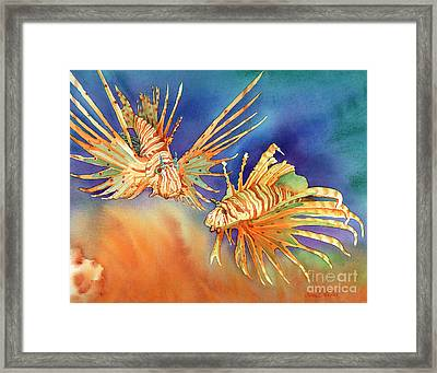 Ocean Lions Framed Print by Tracy L Teeter