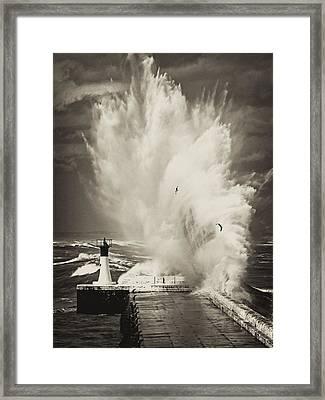 Ocean Motion Framed Print by Andrew  Hewett