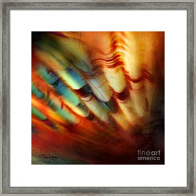 Ocean Motion Framed Print by Shevon Johnson
