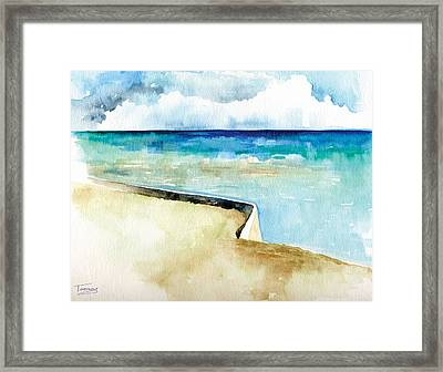 Ocean Pier In Key West Florida Framed Print by Catherine Twomey