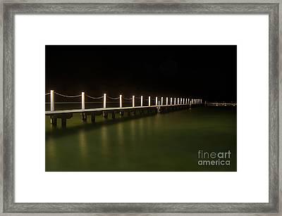 Ocean Pool By Night 2 Framed Print by Kaye Menner