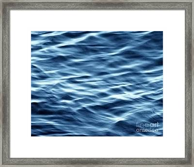 Ocean Ripples Framed Print by Artist and Photographer Laura Wrede