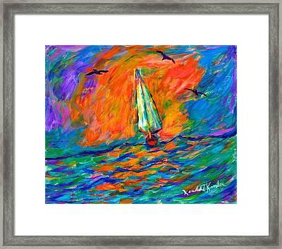 Ocean Shift Framed Print by Kendall Kessler