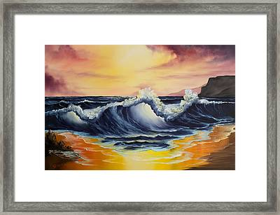 Ocean Sunset Framed Print by C Steele