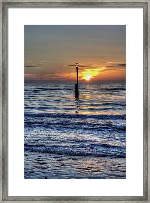 Ocean Sunset Framed Print by Ian Mitchell