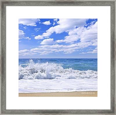 Ocean Surf Framed Print by Elena Elisseeva