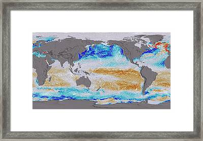 Ocean Surface Co2 And Winds Framed Print by Nasa's Scientific Visualization Studio