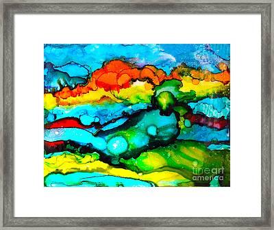 Ocean Tempest Tile Framed Print by Alene Sirott-Cope