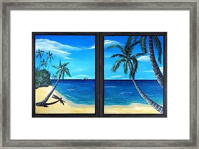 Ocean View Framed Print by Anastasiya Malakhova
