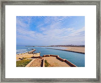 Ocean View From The Old Medina In Rabat Framed Print by Karol Kozlowski