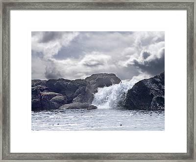 Ocean Waterfall Framed Print by George Cousins