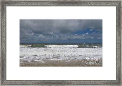 Ocean Wave Framed Print by Arlene Carmel