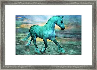 Ocean Wave Framed Print by Betsy C Knapp