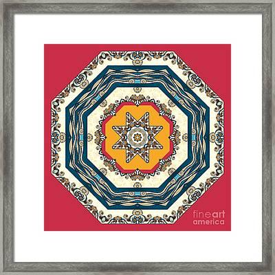 Ocean Waves - Mandakal 04cm22a Framed Print by Aimelle