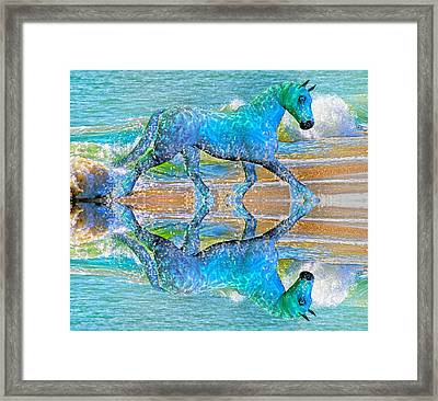 Oceans Framed Print by Betsy Knapp