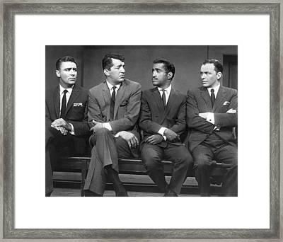 Ocean's Eleven Rat Pack Framed Print by Underwood Archives