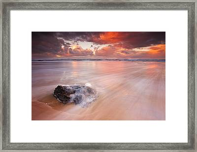 Ocean's Light Framed Print by Darren  White
