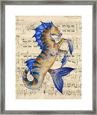 Oceans Song Framed Print by Evey Studios