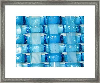 Oceans Woven Glass 2 Framed Print by Steven Schramek