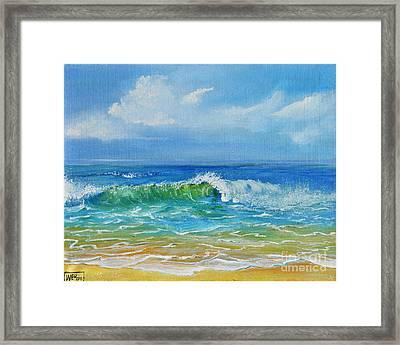 Oceanscape Framed Print by Teresa Wegrzyn