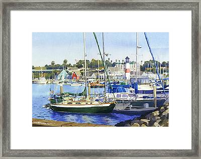 Oceanside Harbor Framed Print by Mary Helmreich