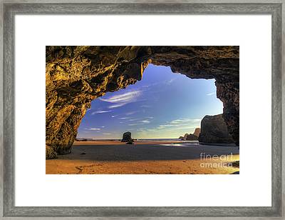 Oceanside Hideout Framed Print by Mark Kiver