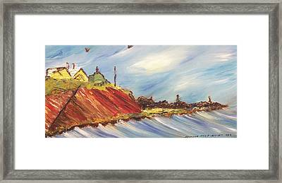 Oceanside Home  Framed Print by Suzanne  Marie Leclair