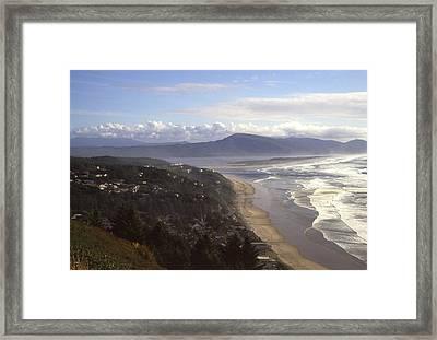 Oceanside Oregon Framed Print by Keith Gondron