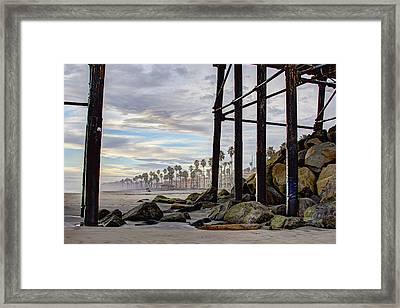 Oceanside Pier Framed Print by Ann Patterson