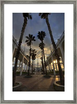 Oceanside Pier Entrance Framed Print by Peter Tellone