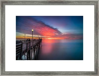Oceanside Pier Sunset 16 Framed Print by Larry Marshall