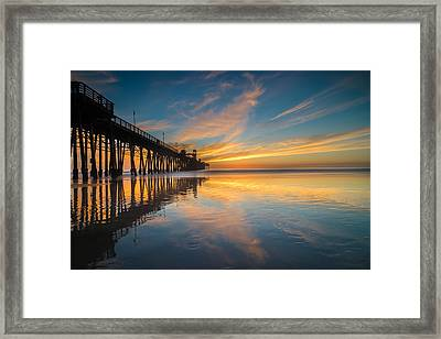 Oceanside Reflections 2 Framed Print by Larry Marshall