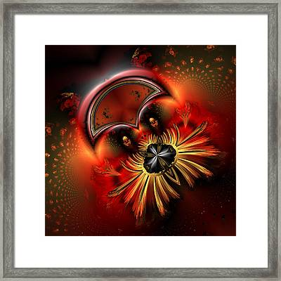 Ocf 199 Fido In Abstract Framed Print by Claude McCoy