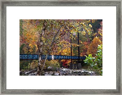 Ocoee River Bridge Framed Print by Debra and Dave Vanderlaan