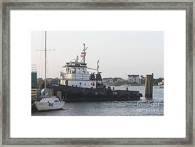 Ocracoke Boats Framed Print by Cathy Lindsey