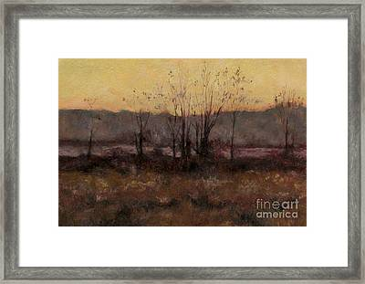 October Dusk Framed Print by Gregory Arnett