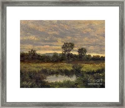 October Evening Storm Framed Print by Gregory Arnett