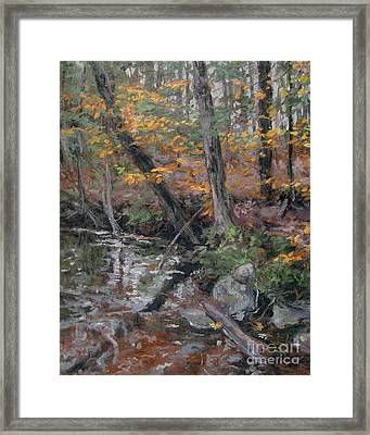 October Leaves Framed Print by Gregory Arnett