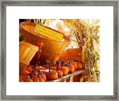 October Market Framed Print by Jim Garrison