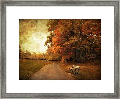 October Tones Framed Print by Jessica Jenney