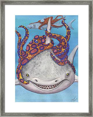 Octopied Framed Print by Catherine G McElroy