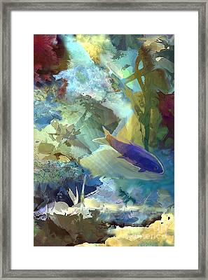 Octopus' Garden 1  Framed Print by Ursula Freer
