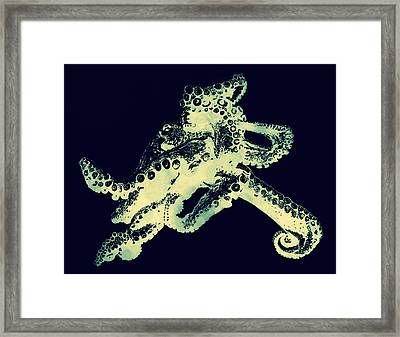 Octopus Iconic Framed Print by Andrea Keating