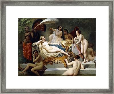 Odalisque Framed Print by Henri Pierre Picou