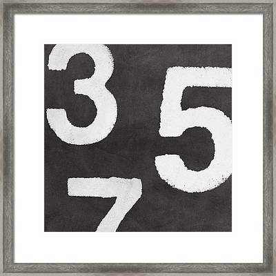 Odd Numbers Framed Print by Linda Woods