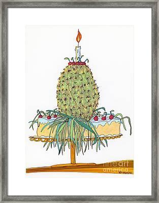 Odd Pineapple Upside-down Cake Framed Print by Mag Pringle Gire