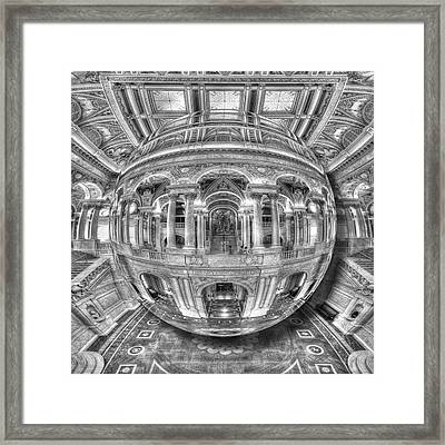 Ode To Mc Escher Library Of Congress Orb Framed Print by Tony Rubino