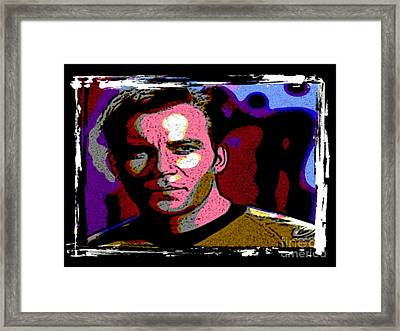 Ode To Star Trek Framed Print by John Malone