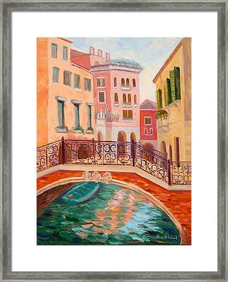 Ode To Venice Framed Print by Karin  Leonard